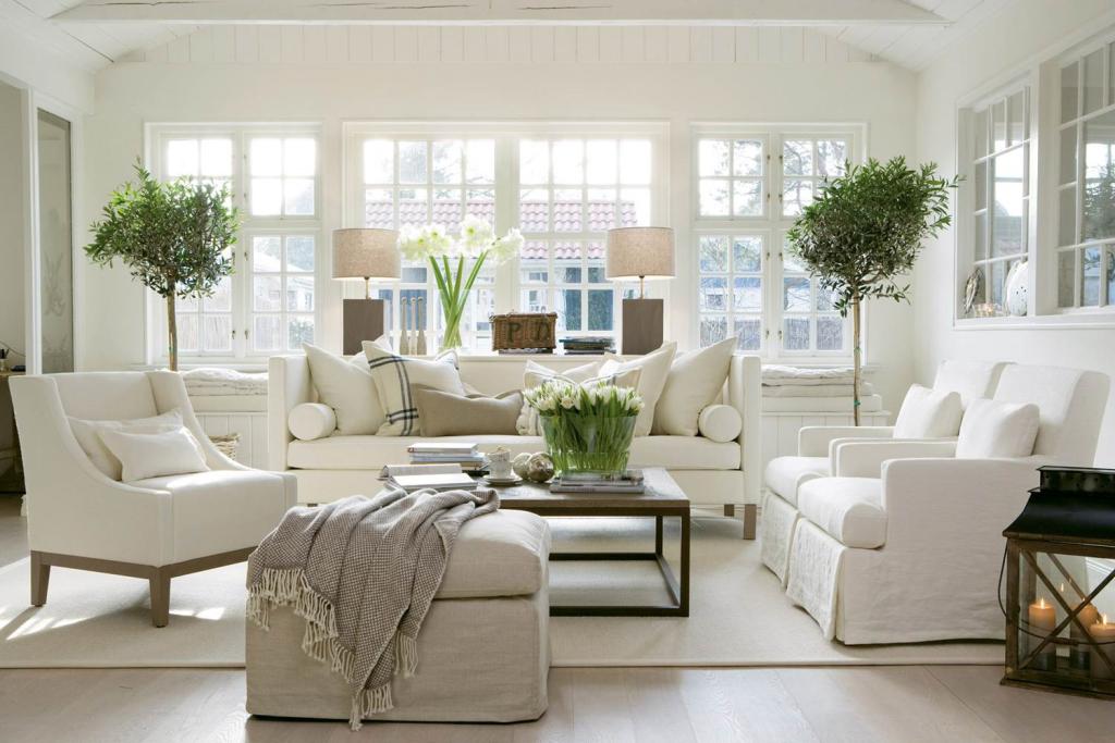 Белый цвет - основа скандинавского стиля.
