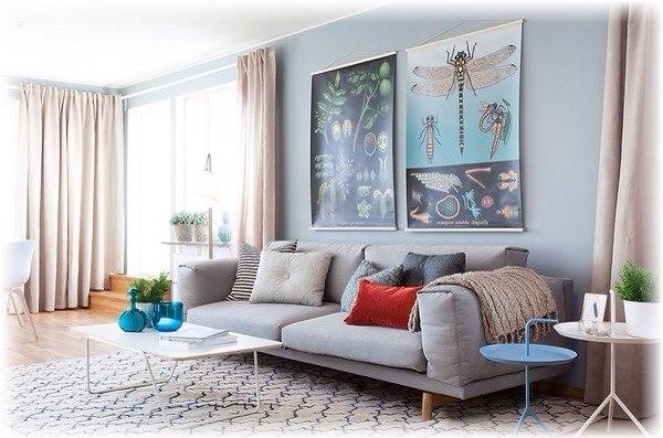 Интересные панно и картины на стене как оживляющий акцент интерьера