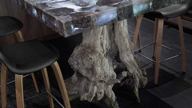 Оригинальный элемент мебели в в экологическом стиле