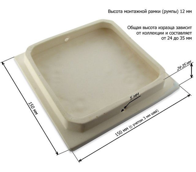 Тыльная сторона изразцовой плитки
