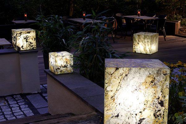 Уличные декоративные светильники из гибкого сланца