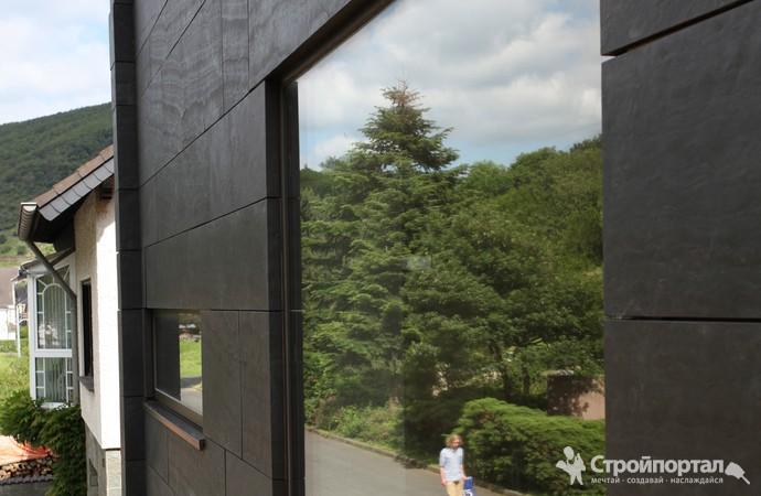 Каменный шпон на фасаде