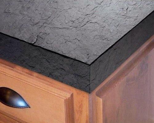 Кухонная столешница из каменного шпона