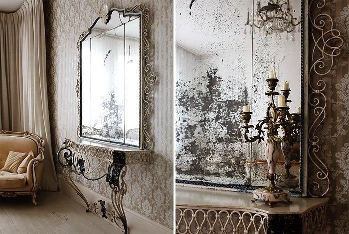 Эффект состаренного зеркала