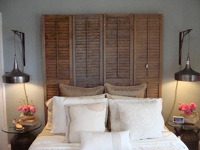 Шаттерсы как элемент декора в спальне