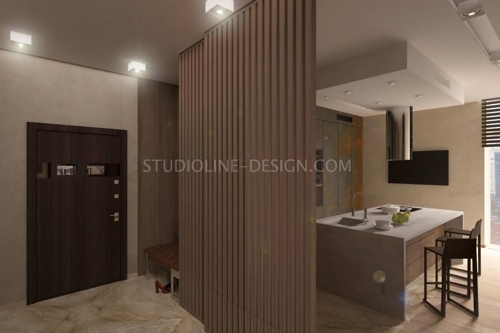 Дизайн интерьера квартиры в ЖК Ультра (Харьков)
