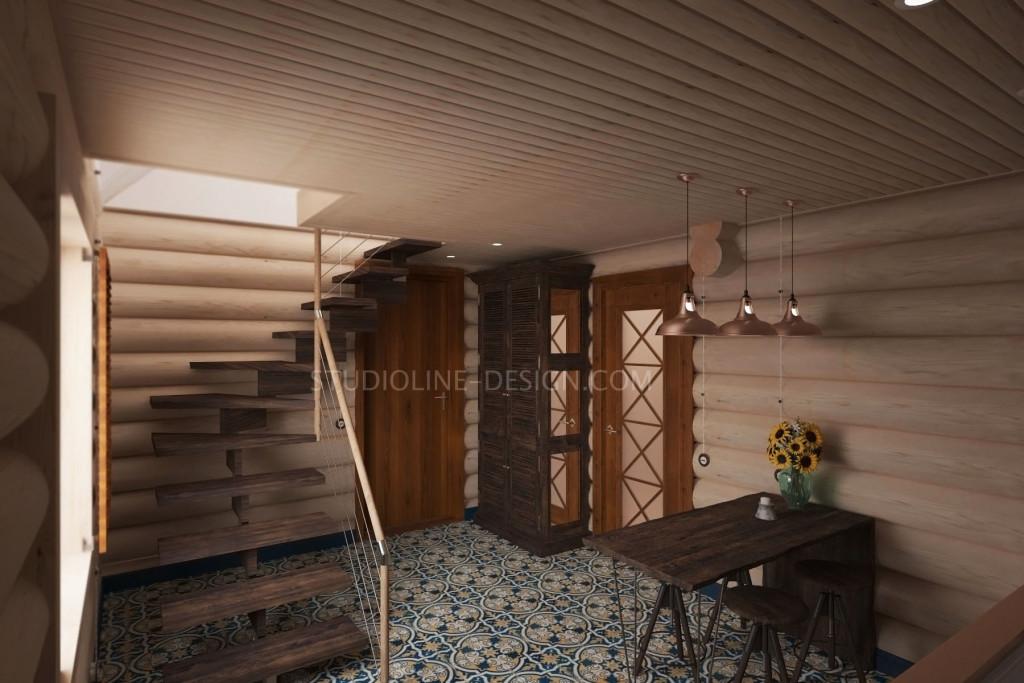 В первой планировке шкаф и обеденный стол размещались в кухне